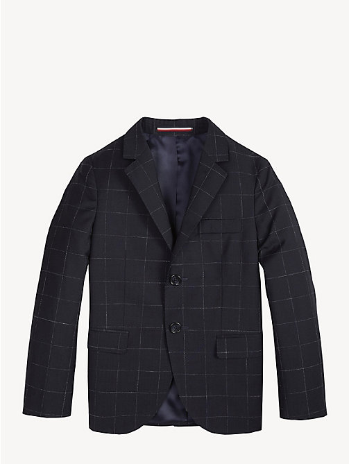 TOMMY HILFIGER Virgin Wool Check Blazer - MIDNIGHT BLUE - TOMMY HILFIGER Coats & Jackets - detail image 1