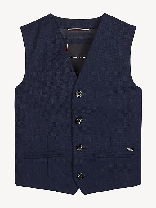 TOMMY HILFIGER Structured Waistcoat - BLACK IRIS - TOMMY HILFIGER Coats & Jackets - main image