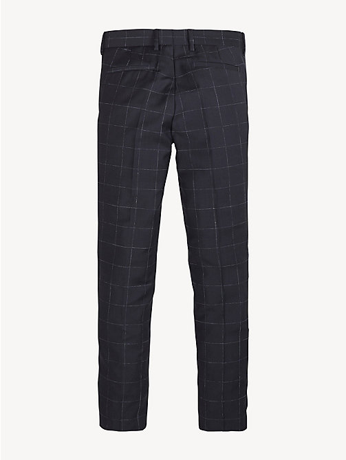 TOMMY HILFIGER Virgin Wool Check Trousers - MIDNIGHT BLUE - TOMMY HILFIGER Trousers & Shorts - detail image 1