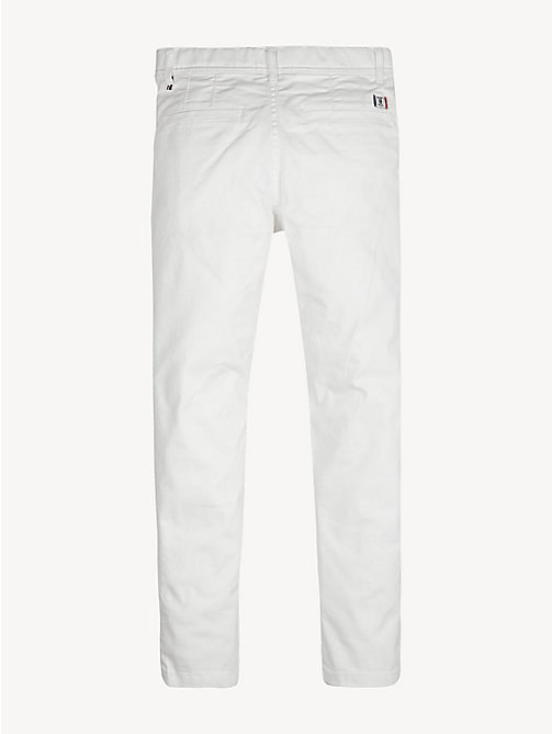 TOMMY HILFIGER Organic Cotton Slim Fit Chinos - BRIGHT WHITE - TOMMY HILFIGER Trousers & Shorts - detail image 1