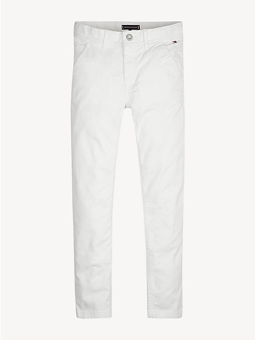 TOMMY HILFIGER Pantaloni chino slim fit in cotone biologico - BRIGHT WHITE - TOMMY HILFIGER Pantaloni - immagine principale