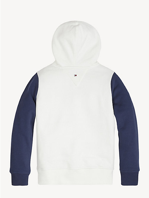 TOMMY HILFIGER Colour-blocked hoodie - BRIGHT WHITE/BLACK IRIS - TOMMY HILFIGER Sweatshirts & Hoodies - detail image 1