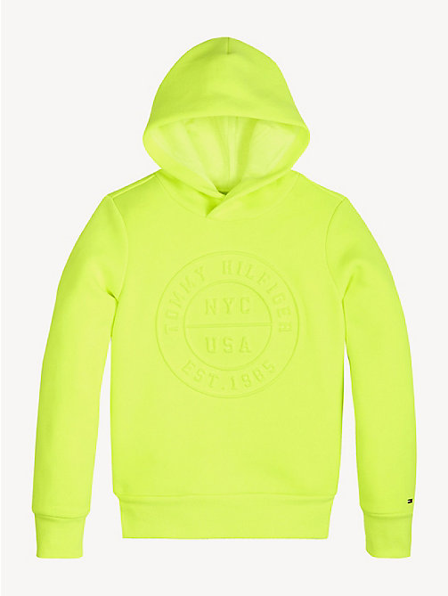 TOMMY HILFIGER 3D Logo Hoody - SAFETY YELLOW - TOMMY HILFIGER Sweatshirts & Hoodies - detail image 1