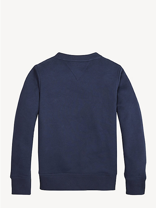 TOMMY HILFIGER Essential fleece sweatshirt met logo - BLACK IRIS - TOMMY HILFIGER Sweatshirts & Hoodies - detail image 1