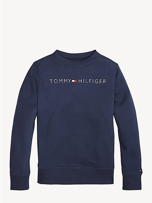 TOMMY HILFIGER Essential Logo Fleece Sweatshirt - BLACK IRIS - TOMMY HILFIGER Sweatshirts & Hoodies - main image