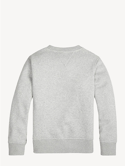 TOMMY HILFIGER Essential Logo Fleece Sweatshirt - GREY HEATHER - TOMMY HILFIGER Sweatshirts & Hoodies - detail image 1