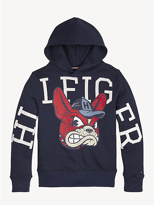 TOMMY HILFIGER Mascot Fleece Hoody - BLACK IRIS HEATHER - TOMMY HILFIGER Sweatshirts & Hoodies - detail image 1