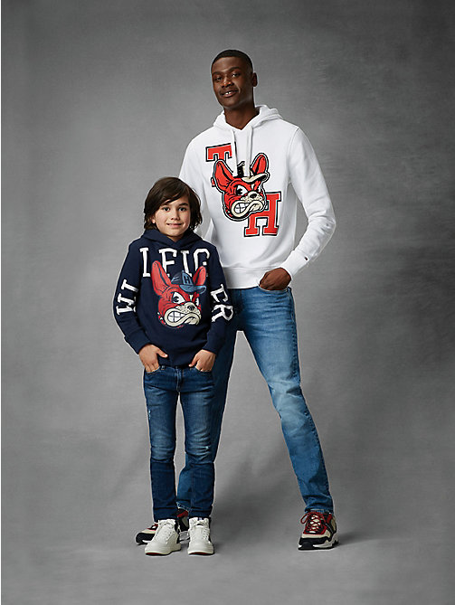 TOMMY HILFIGER Fleece hoodie met mascotte - BLACK IRIS HEATHER - TOMMY HILFIGER Sweatshirts & Hoodies - main image