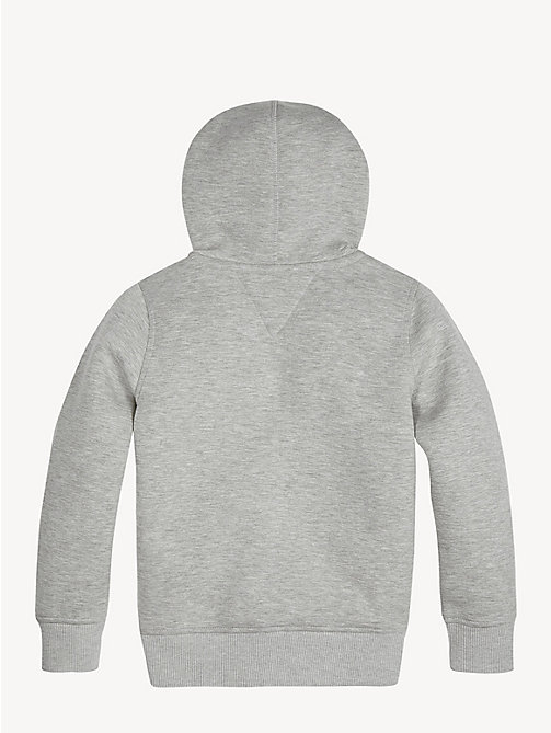 TOMMY HILFIGER Bonded Zip-Thru Hoody - GREY HEATHER - TOMMY HILFIGER Sweatshirts & Hoodies - detail image 1
