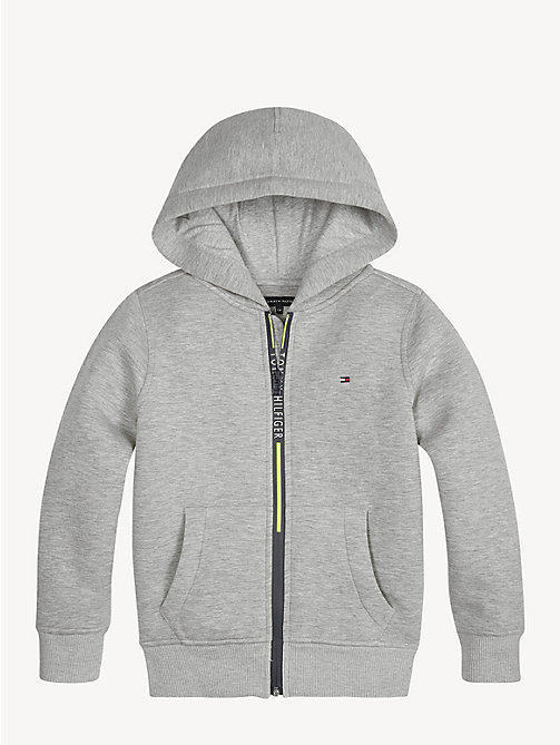 TOMMY HILFIGER Sweat à capuche zippé non-tissé - GREY HEATHER - TOMMY HILFIGER Sweats - image principale