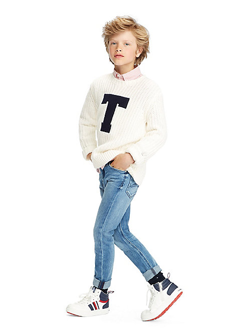 TOMMY HILFIGER Oversized Jumper - SNOW WHITE - TOMMY HILFIGER Knitwear - main image