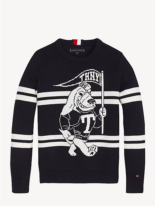 TOMMY HILFIGER Gestreifter Mascot-Pullover - TOMMY BLACK - TOMMY HILFIGER Pullover & Strickjacken - main image 1