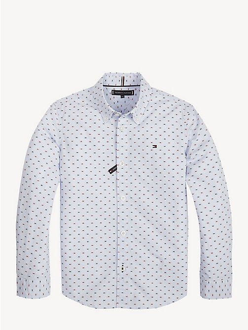 TOMMY HILFIGER Gingham Check Shirt - BRIGHT WHITE / MULTI - TOMMY HILFIGER Shirts - main image
