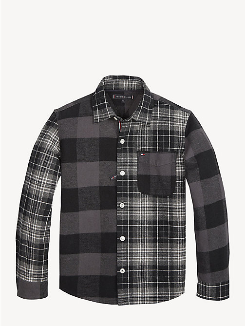 TOMMY HILFIGER Multi-Pattern Checked Shirt - TOMMY BLACK / MULTI - TOMMY HILFIGER Shirts - detail image 1