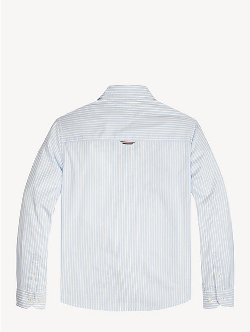 TOMMY HILFIGER Pure Cotton Stripe Shirt - SHIRT BLUE - TOMMY HILFIGER Shirts - detail image 1