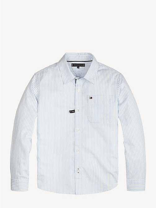TOMMY HILFIGER Pure Cotton Stripe Shirt - SHIRT BLUE - TOMMY HILFIGER Shirts - main image