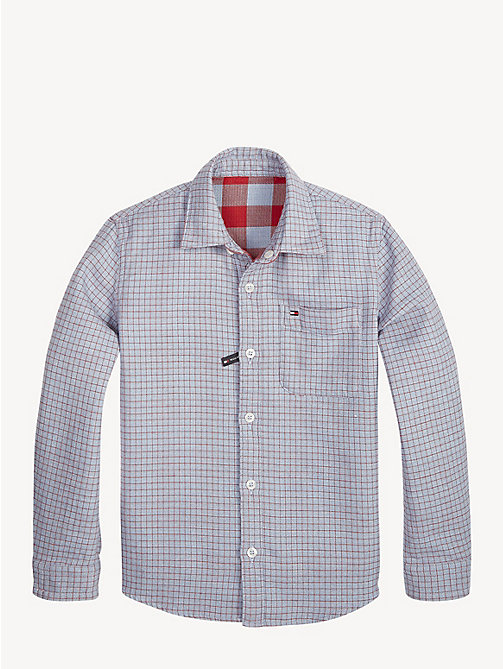 TOMMY HILFIGER Reversible Check Print Shirt - CORONET BLUE / MULTI - TOMMY HILFIGER Shirts - main image