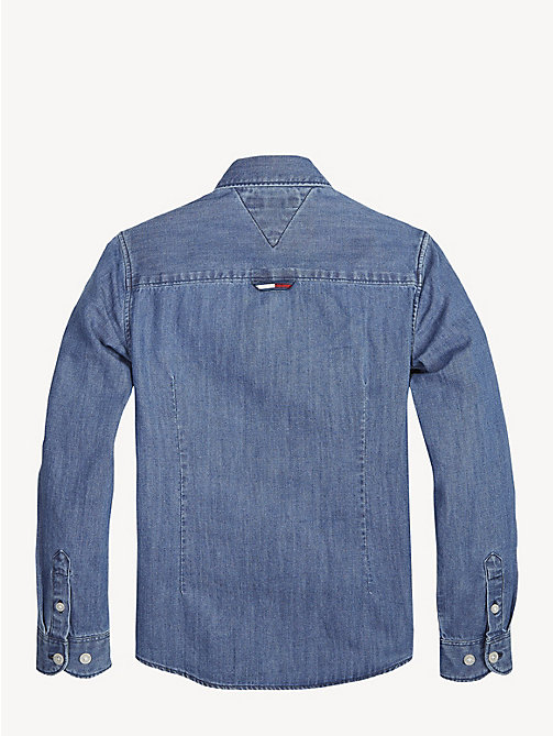 TOMMY HILFIGER Long Sleeve Denim Shirt - MID BLUE - TOMMY HILFIGER Shirts - detail image 1