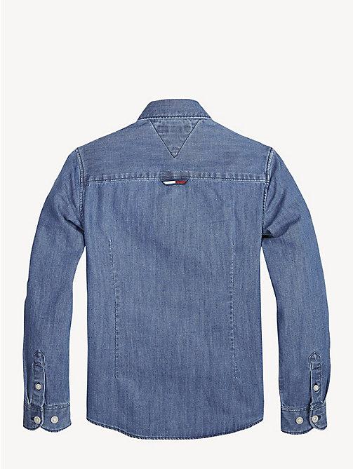 ... TOMMY HILFIGER Langarm-Jeanshemd - MID BLUE - TOMMY HILFIGER Hemden -  main image 1 480519a8a1