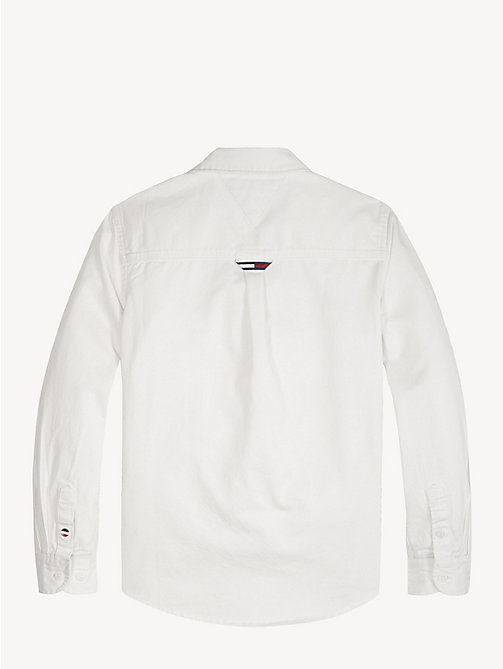 TOMMY HILFIGER Logo Pocket Twill Shirt - CLASSIC WHITE - TOMMY HILFIGER Shirts - detail image 1