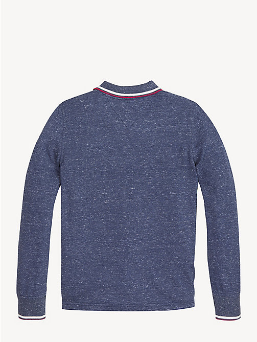 TOMMY HILFIGER Essential Langarm-Poloshirt aus Piqué - BLACK IRIS - TOMMY HILFIGER T-shirts & Poloshirts - main image 1