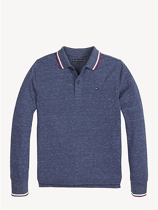 TOMMY HILFIGER Essential Langarm-Poloshirt aus Piqué - BLACK IRIS - TOMMY HILFIGER T-shirts & Poloshirts - main image