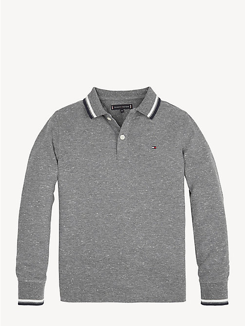 TOMMY HILFIGER Essential Pique Polo Shirt - GREY HEATHER - TOMMY HILFIGER T-shirts & Polos - main image