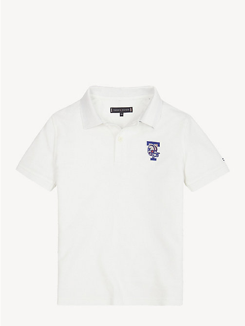 TOMMY HILFIGER Mascot Organic Cotton Polo Shirt - BRIGHT WHITE - TOMMY HILFIGER T-shirts & Polos - main image