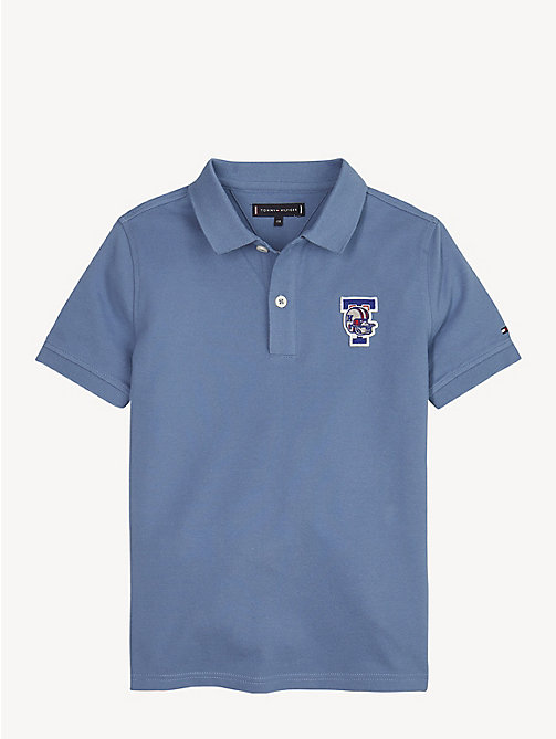 TOMMY HILFIGER Polo Mascot en coton bio - CORONET BLUE - TOMMY HILFIGER T-shirts & Polos - image principale