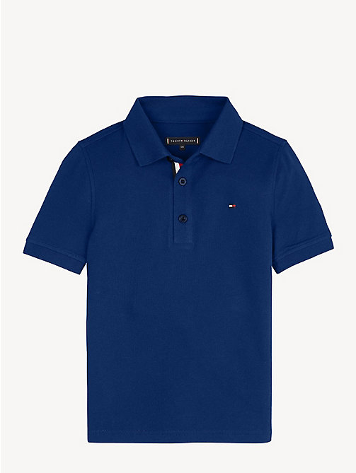 TOMMY HILFIGER Slim fit poloshirt - BLACK IRIS - TOMMY HILFIGER T-shirts & Polo's - main image
