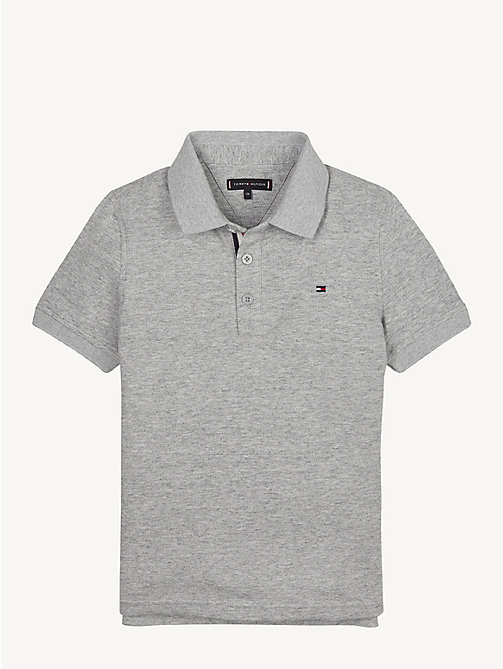 TOMMY HILFIGER Slim Fit Polo Shirt - GREY HEATHER - TOMMY HILFIGER T-shirts & Polos - main image