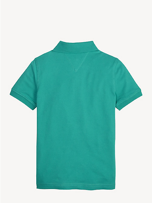 TOMMY HILFIGER Slim Fit Polo Shirt - DYNASTY GREEN - TOMMY HILFIGER T-shirts & Polos - detail image 1