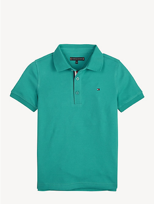 TOMMY HILFIGER Slim Fit Polo Shirt - DYNASTY GREEN - TOMMY HILFIGER T-shirts & Polos - main image