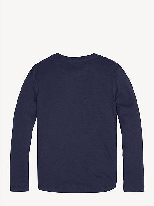 TOMMY HILFIGER Long Sleeve Logo T-Shirt - BLACK IRIS - TOMMY HILFIGER T-shirts & Polos - detail image 1