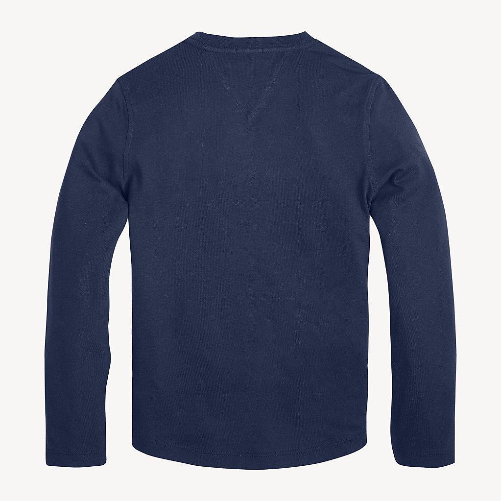 Tommy Hilfiger - T-shirt à manches longues en coton bio - 2