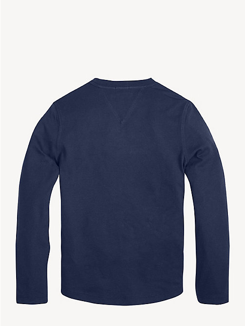 TOMMY HILFIGER Organic Cotton Long Sleeve T-Shirt - BLACK IRIS - TOMMY HILFIGER Sustainable Evolution - detail image 1