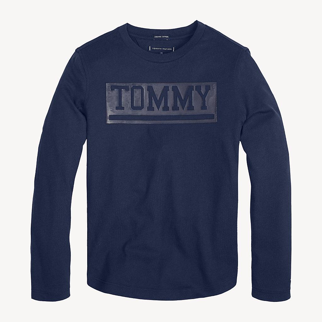 Tommy Hilfiger - T-shirt à manches longues en coton bio - 1