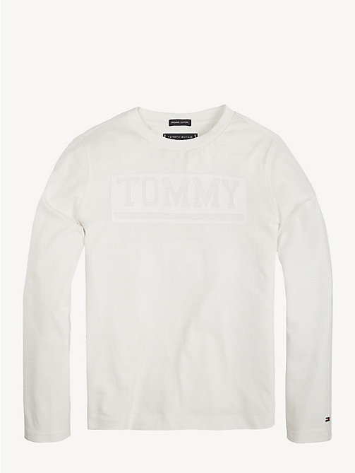 TOMMY HILFIGER Organic Cotton Long Sleeve T-Shirt - BRIGHT WHITE - TOMMY HILFIGER T-shirts & Polos - main image
