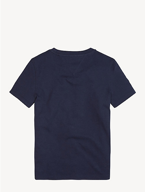 TOMMY HILFIGER Essential Cotton Logo T-Shirt - BLACK IRIS - TOMMY HILFIGER Sustainable Evolution - detail image 1