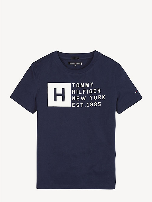 TOMMY HILFIGER Essential Cotton Logo T-Shirt - BLACK IRIS - TOMMY HILFIGER T-shirts & Polos - main image