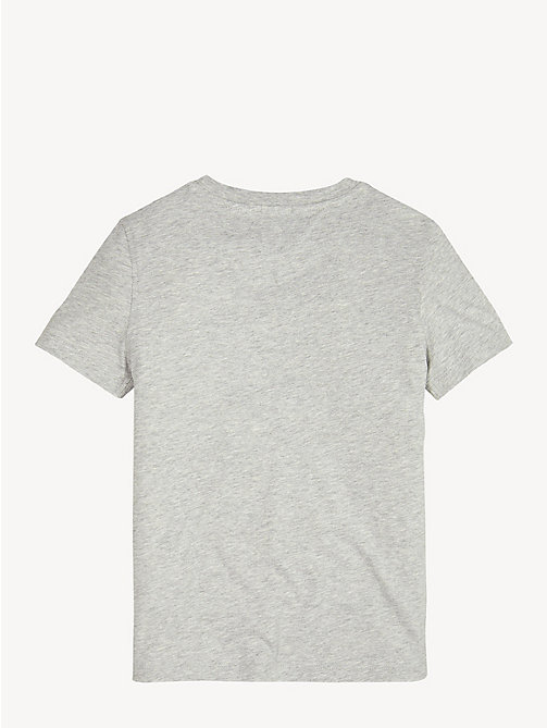 TOMMY HILFIGER Essential Cotton Logo T-Shirt - GREY HEATHER - TOMMY HILFIGER Sustainable Evolution - detail image 1