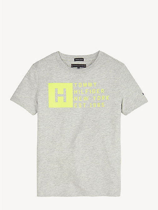 TOMMY HILFIGER Biologisch katoenen T-shirt met logo - GREY HEATHER - TOMMY HILFIGER T-shirts & Polo's - main image