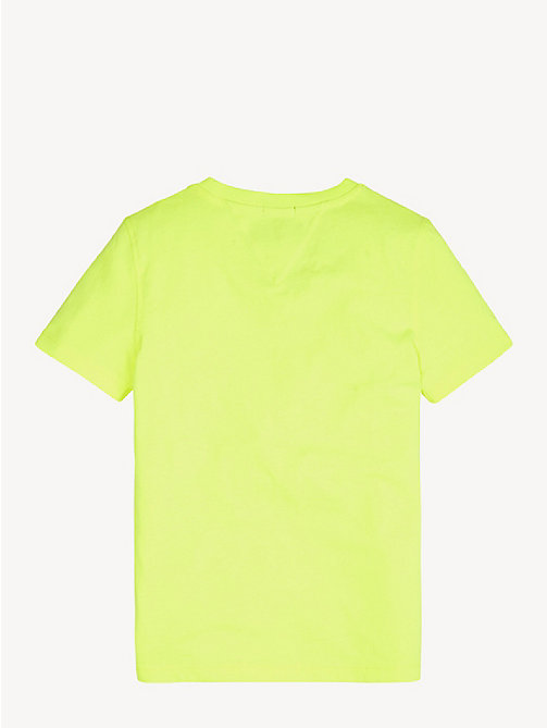 TOMMY HILFIGER Essential Cotton Logo T-Shirt - SAFETY YELLOW - TOMMY HILFIGER Sustainable Evolution - detail image 1