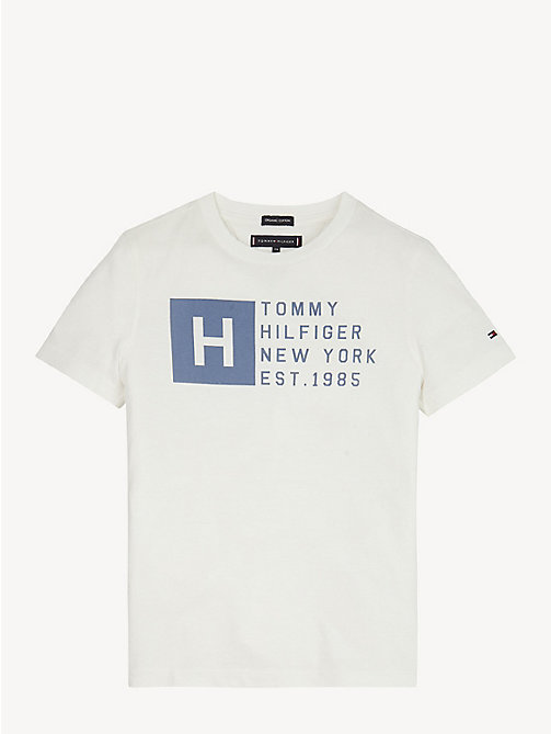 TOMMY HILFIGER Essential Cotton Logo T-Shirt - BRIGHT WHITE - TOMMY HILFIGER T-shirts & Polos - main image