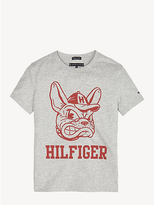 TOMMY HILFIGER Mascot Print T-Shirt - GREY HEATHER - TOMMY HILFIGER T-shirts & Polos - detail image 1
