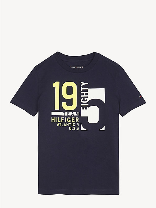 TOMMY HILFIGER Nautical Team T-Shirt - BLACK IRIS - TOMMY HILFIGER T-shirts & Polos - main image