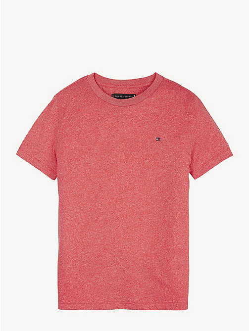 TOMMY HILFIGER Jaspe Jersey T-Shirt - LYCHEE - TOMMY HILFIGER T-shirts & Polos - main image