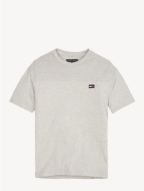 TOMMY HILFIGER Colour-Blocked T-Shirt - GREY HEATHER - TOMMY HILFIGER T-shirts & Polos - main image