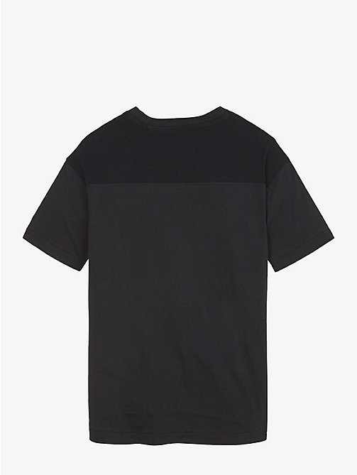 TOMMY HILFIGER Colour-Blocked T-Shirt - TOMMY BLACK - TOMMY HILFIGER T-shirts & Polos - detail image 1