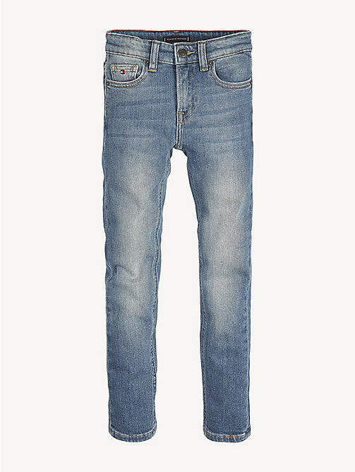 TOMMY HILFIGER Scanton Slim Fit Faded Jeans - CEDAR BLUE STRETCH - TOMMY HILFIGER Jeans - main image